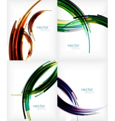 Semicircle stripes modern abstract template vector