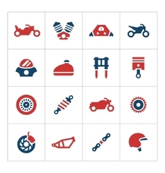 Set color icons of motorcycle vector