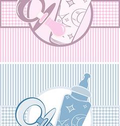 Set of baby banners vector