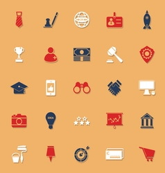 SME classic color icons with shadow vector image vector image