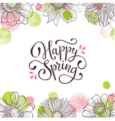 Spring time greeting card vector