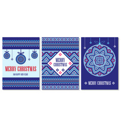 Template cards merry christmas in vector