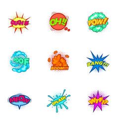 Trendy speech bubbles icons set cartoon style vector