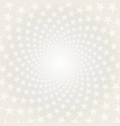 twisted stars spiral white and grey abstract back vector image vector image