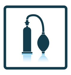 Vacuum penis machine icon vector