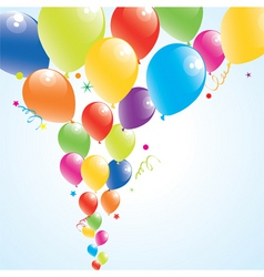 vector illustration of colorful balloons in the sk vector image vector image
