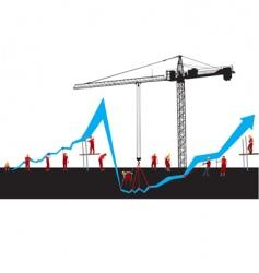 financial crisis graph vector image