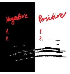 Negative and positive vector