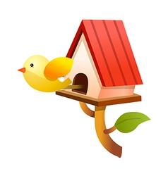 icon bird house vector image