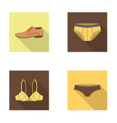 Shoes shoe panties underwear and other clothes vector