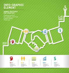 Template modern info-graphic design vector