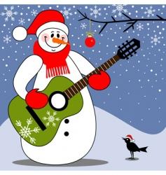 Christmas carol vector image