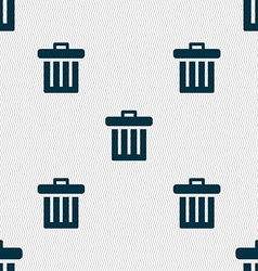 Recycle bin icon sign seamless pattern with vector