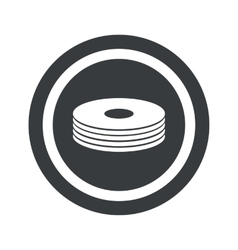 Round black disc pile sign vector