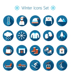 Winter icons set silhouette black and white vector