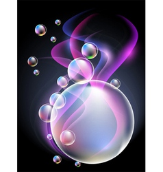 smoke and bubbles vector image