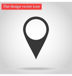 Pointer icon flat with shadow vector