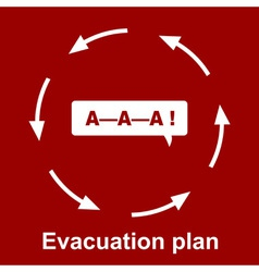 Emergency evacuation plan vector