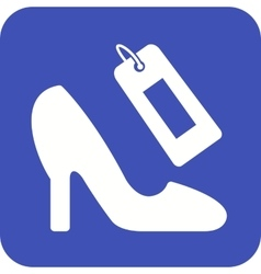 Shoe shopping vector