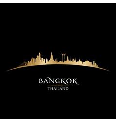 Bangkok thailand skyline detailed silhouette vector