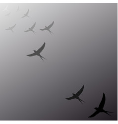 birds flying away into the distance vector image vector image