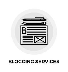 Blogging Services Icon vector image vector image
