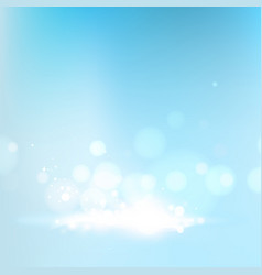 blue bokeh abstraction vector image vector image
