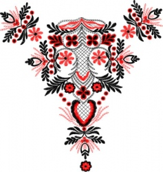 border embroidery vector image