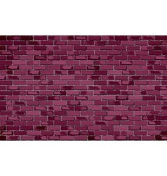 Burgundy brick wall vector