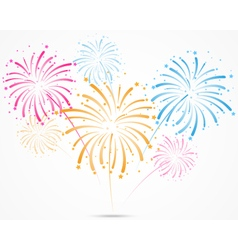 Bursting fireworks with stars and sparks vector