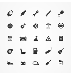 Car parts icons set vector