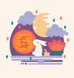 Chinese mid autumn festival vector