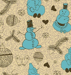 Christmas background seamless tiling vector image vector image