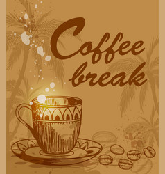 Coffee break background vector