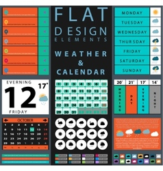 components featuring design weather and calendar vector image
