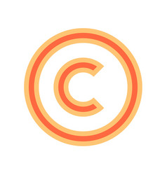 copyright symbol sign vector image