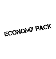 Economy pack rubber stamp vector