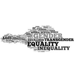 Gender word cloud concept vector