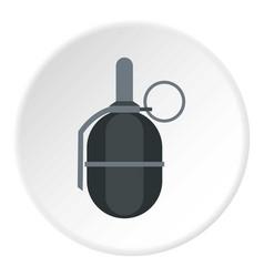 Hand paintball grenade icon circle vector