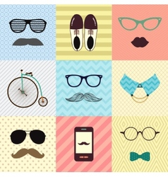 Hipster vintage cute fashion background vector