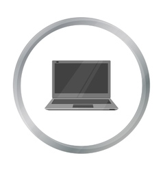 Laptop icon in cartoon style isolated on white vector image