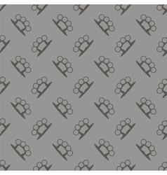 Metal knuckles silhouette seamless pattern vector