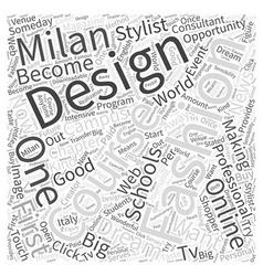 Online fashion design schools word cloud concept vector