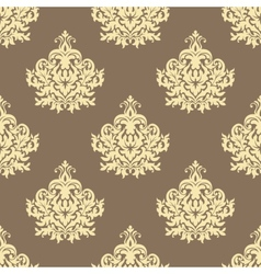 Retro yellow floral seamless pattern background vector image vector image