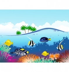 sealife tropical vector image vector image