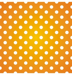 Seamless pattern white polka dots on yellow vector image