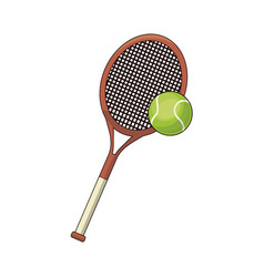 Tennis racket and ball sport design vector