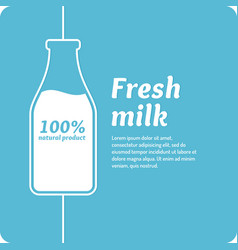 the original concept poster to advertise milk vector image vector image