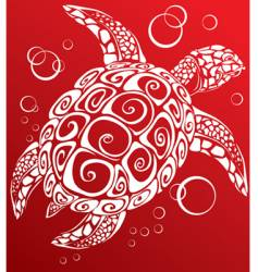 turtle a print vector image vector image