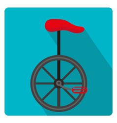 Unicycle circus icon for flat style with long vector